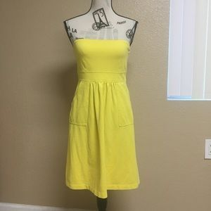 J. Crew yellow strapless dress Women's size 6